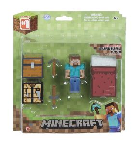Minecraft Core Player Survival Pack Action Figure New Toys Kids Video Game Gift
