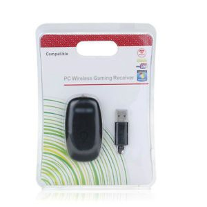 USB PC Wireless Receiver to Games Gaming Control for Xbox 360 Controller Black
