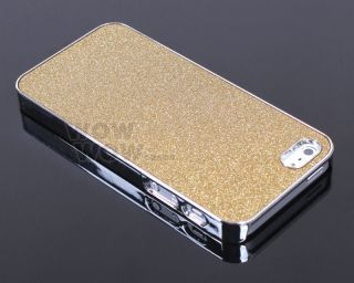 Gold Glitter Sparkle Silver Bling Chrome Hard Snap Case Cover for iPhone 5 5S 5g