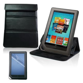Leather Case Cover Stand Screen Protector Barnes Noble Nook Color and Tablet
