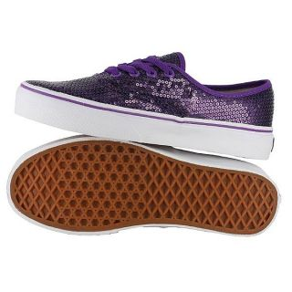 Vans Classic Authentic Purple Glitter Dots Mens US Size 6 Womens 7 5