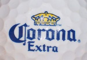 Corona Extra Beer Yellow Blue Trim Logo Golf Ball
