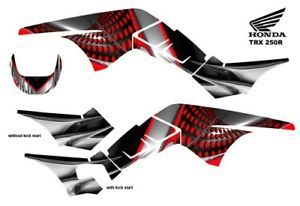 Honda TRX 250R ATV Graphic Decal Kit 7777RED