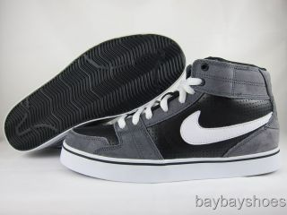 Nike Ruckus Mid Gray White Black Skate Mens All Sizes