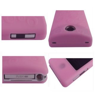 Pink Soft Skin Case Cover for Sony Bloggie Touch Camera MHS TS10 TS20