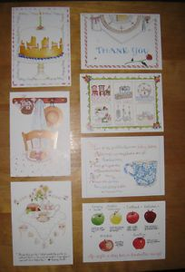 7 Susan Branch Greeting Cards Birthday Thank You Get Well Blank New