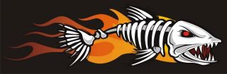 Bad Ass Flame Boat Car Stickers Graphics Fishing Decals