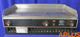 "Cecilware Griddle Flat Grill Gas 36"" 48 000 BTU Model BG36"