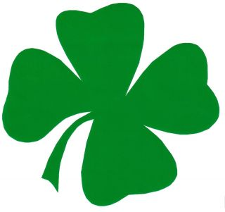 Four Leaf Clover Sticker Great for Fridge Ute Car 100x95
