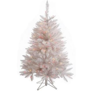 Vickerman Crystal White Spruce 4.5 Spruce Artificial Christmas Tree with 165 LED Multicolored Lights with Stand