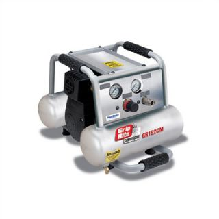 Grip Rite 2 Gallon 2 HP Oil Free Electric Hand Carry Twin Pontoon Single Stage Air Compressor