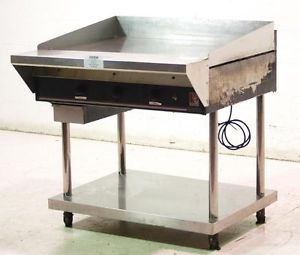 "Wolf Used Commercial 36"" Natural Gas Griddle Flat Grill w Stand"