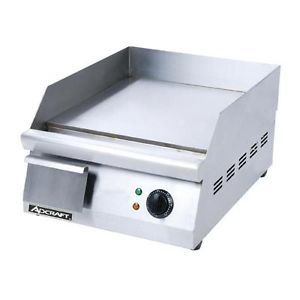 "Adcraft Grid 16 16"" Countertop Electric Griddle Flat Top Grill"