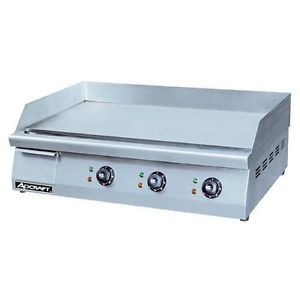 "Adcraft Grid 30 30"" Countertop Electric Griddle Flat Top Grill"