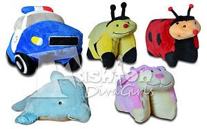 "New Pet Kids Animal Soft Cuddly Toy Cushions 18"" Pillow"