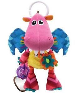 Cute Infant Baby Kids Lamaze Fiery Dragon Bell Mirror Rang Paper Toys