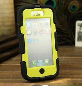 iPhone 5 Case Griffin Survivor Hard Cover Protective Rugged Yellow Silicone Case