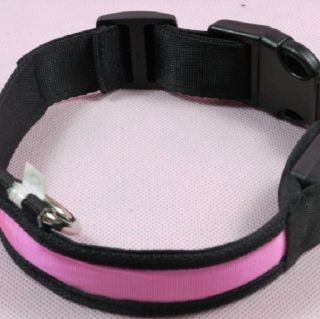 New Pet Cat Dog LED Flashing Light Up Adjustable Safety Collars for Pet Supplies