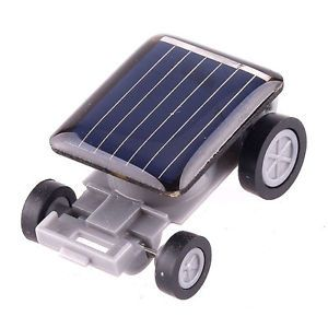 Nice Mini Solar Power Robot Educational Toy Car Auto for Children Kids