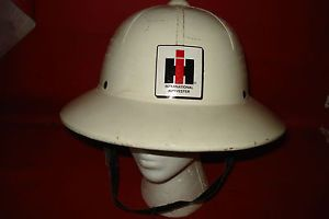 International Harvester Farm All Hard Shell Hat Tractor Sign Advertising Cap