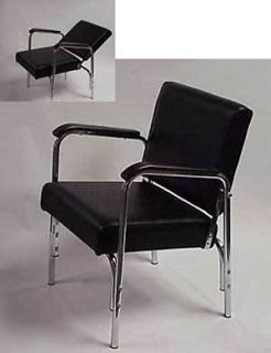 Ascot Products Glide Back Salon Shampoo Chair Chrome Finish