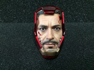 Hot Toys The Avengers Iron Man Mark VII Battle Damaged Vers Tony Stark Helmet
