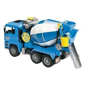 Bruder Man Cement Mixer Truck Toy Toddler Kids Game Children Play Boys Gift