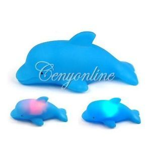 New Baby Kids Bath Toy LED Flashing Dolphin Light Lamp