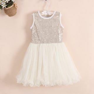 Baby Kids Girls Princess Tutu Lace Formal Party Dress Skirt 4 5Y Yellow D