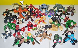 28 PC Lot Marvel Super Hero Squad Action Figures Toys