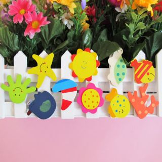 36x Wooden Carton Cute Animals Fridge Magnet Sticker Kids Fun Education Toy New