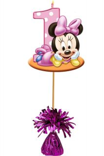 First Year Baby Minnie Mouse Birthday Party Centerpiece Girl Boy
