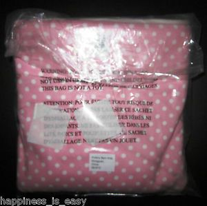 Pottery Barn Kids Anywhere Chair Slipcover Light Pink White Piping Mini Dot