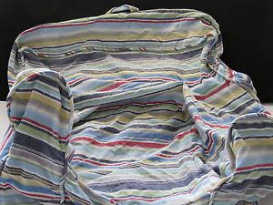 Pottery Barn Kids Anywhere Chair Slip Cover Boy Stripe Nautical Blue Green