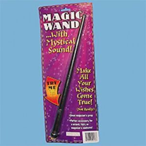 "Magic Wand Mystical Sound Light 14"" Plastic Magician Wizard Trick Stick Toy"