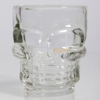 New 4pcs Fashion Crystal Skull Head Shot Glass Cup Drinking Ware for Home Bar