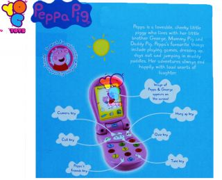 Peppa Pig Flip Up Flip Up Little Mobile Phone with Light Sounds 4 Kids Baby Toys