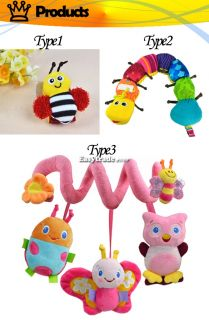 Lovely Popular Musical Inchworm Developmental Baby Kids Colorful Soft Toy ESY1