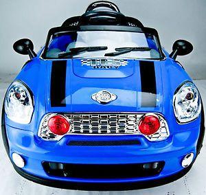 Kids Mini Style Ride on Car Electric 6V Battery Parents Remote Toy JE118 Blue