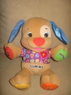 Fisher Price Laugh Learn Puppy Dog Plush Talking Singing Toy LN Excellent