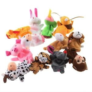 10 x Bright Color Baby Kids Educational Toys Finger Plush Toys Unique Design