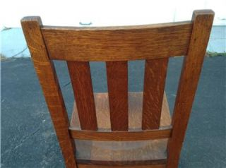 Best Antique Stickley Brothers Mission Oak Arts Crafts Era Dining Side Chair