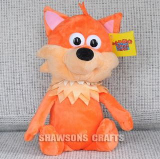 "Aardman Timmy Time Plush Stuffed Toy 13"" Finlay The Fox Soft Figure"
