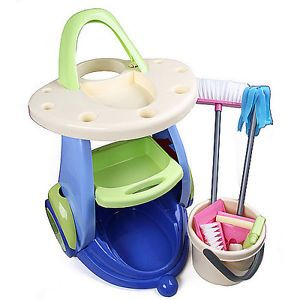 Housework Cleaning Tools MOP Pail Shovel Pretend Play Kid Children Toys K0398