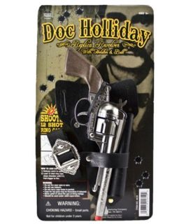 New 6 Shooter Doc Holliday Holster and Pistol Kids Toy Guns Set by Parris Toy