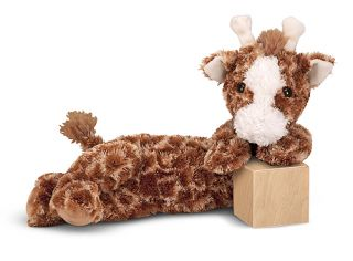 New Zoo Giraffe Stuffed Animal Plush Soft Toy Melissa Doug Longfellow 7457