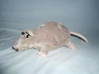 "IKEA 9"" Plush Gosig Ratta Grey Mouse Rat Soft Stuffed Lovey Toy Animal"