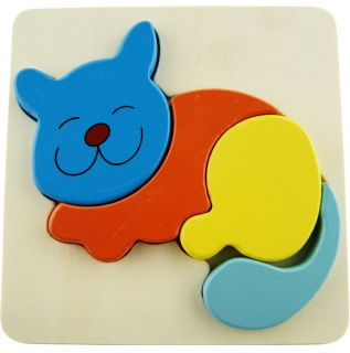 Wooden Puzzle Toy Cute Animal Pattern Blocks Brain Teaser for Kid Children Gift