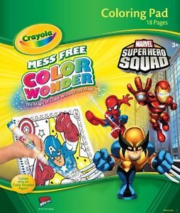 Crayola Color Wonder Super Hero Squad Coloring Pad Toy Game Kids Children Gift