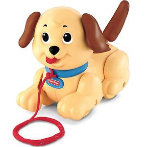 New Fisher Price Brilliant Basics Kids Lil' Snoopy Pull Along Puppy Dog Toy